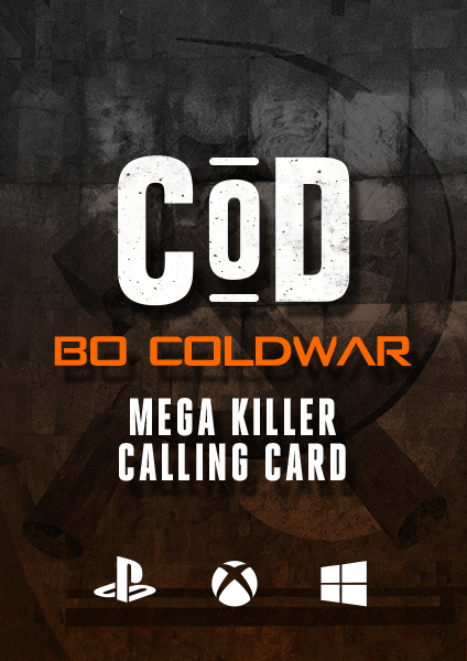 COD BO Cold War Mega Killer Calling Card