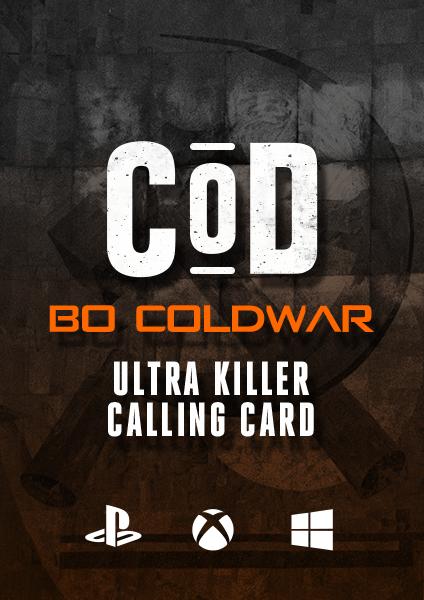 COD BO Cold War Ultra Killer Calling Card
